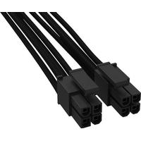 BeQuiet Computer, Strøm Kabel [1x ATX-Stecker 8pol. (4+4) (value.1390827) - 1x ATX-tilslutning 8-pol. (4+4)] 450 m Sort BeQuiet